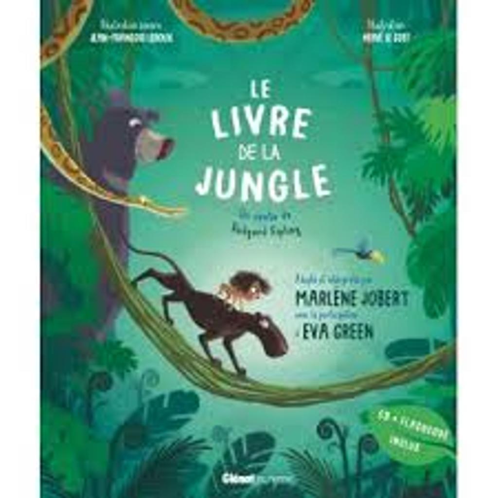 Le livre de la jungle : Livre avec CD + flashcode  