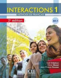 Interactions 1 : méthode de français : [apprentissage du français, A1.1] / Gaël Crépieux, Olivier Massé, Jean-Philippe Rousse   Crépieux, Gaël